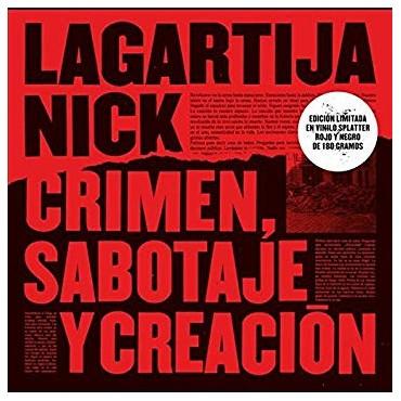 Lagartija Nick – Crimen, Sabotaje y Creacion Lp Red/Black Vinyl Limited Edition