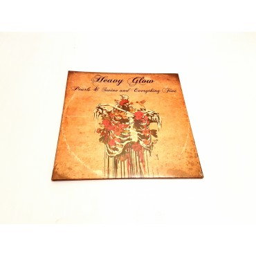Heavy Glow - Pearls & Swine And Everything Fine Lp Vinyl (Orange/Black Marble) Gatefold Limited to 166