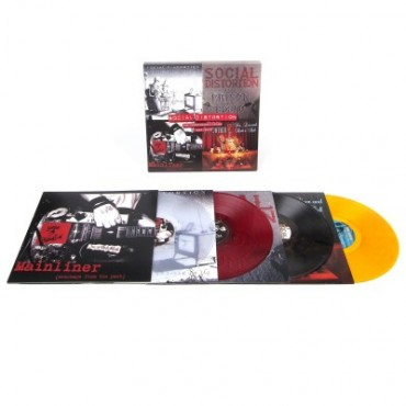 Social Distortion – The Independent Years 1983-2004 4 Lp Box Set Color Vinyl Limited Edition