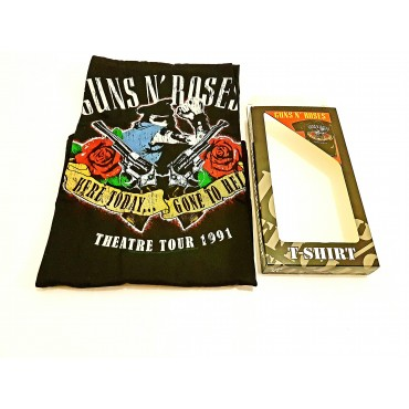 Camiseta Guns and Roses - Here Today...Gone to Hell M Negra Bravado