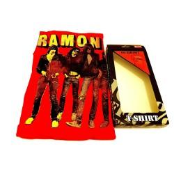 T Shirt Ramones - Band Stand M Red Bravado