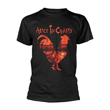 T-Shirt M Alice In Chains - Rooster Black