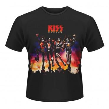 T-Shirt M Kiss - Destroyer Black