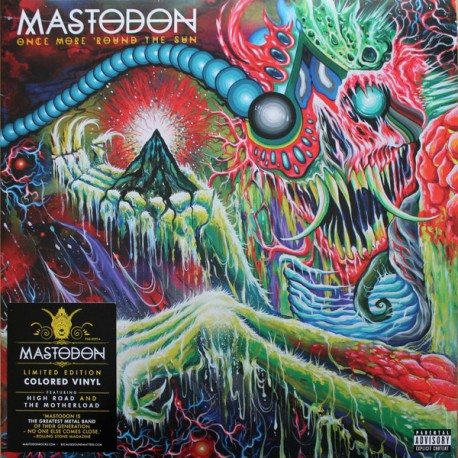 Mastodon ‎– Once More 'Round The Sun 2 Lp Green Vinyl Limited Edition