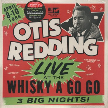 Otis Redding - Live At The Whisky A Go Go 2 Lp Vinyl 180 Gram Rhino Records