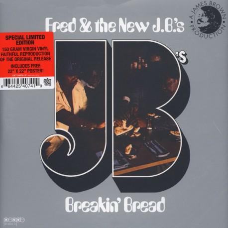 Fred & The New J.B.'s – Breakin' Bread Lp Vinyl Tip-On Sleeve Contains Giant Poster