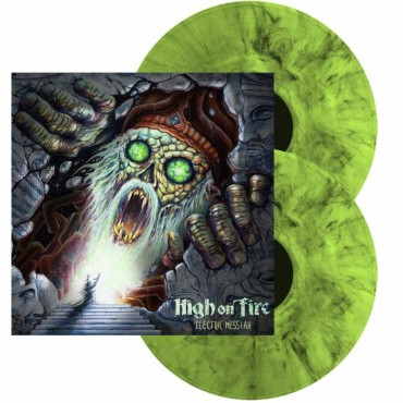 High On Fire ‎– Electric Messiah 2 Lp Doble Vinilo Verde/Negro Portada Gatefold