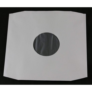 """12"""" LP White Polylined Paper Inner Sleeves Pack Of 25"""