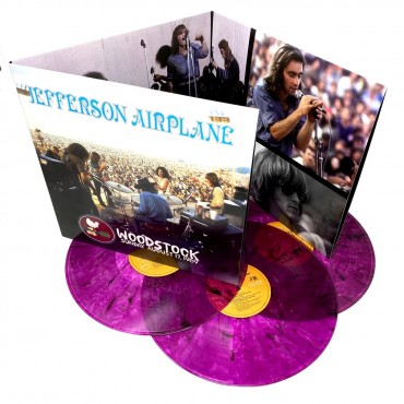 Jefferson Airplane - Woodstock Sunday August 17, 1969 3 Lp Triple Blue Vinyl Limited Edition Of 1000 Copies