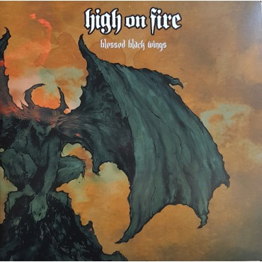 High On Fire ‎– Blessed Black Wings 2 Lp Orange/Green Vinyl Limited Edition Of 1140 Copies